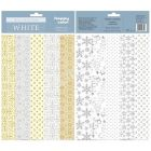 Papier ozdobny 20x29 mix White/mix HappyColor (10)